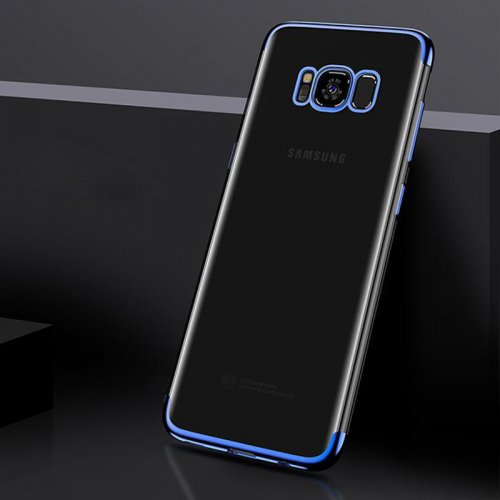 Plating Slim Soft TPU Phone Case Cover for Samsung Galaxy S8 Plus - Blue