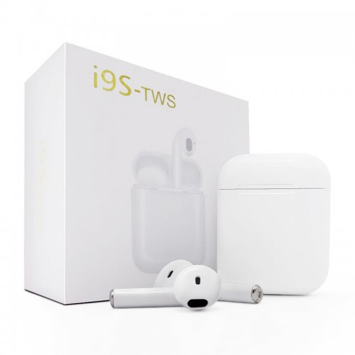 i9S TWS Bluetooth Headphones Twins Wireless In-Ear Stereo Earphones Earbuds Headset for iPhone/IOS Android - White