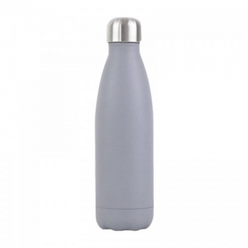 500ML Cola Stainless Steel Water Flask Double Wall Vacuum Insulated Bottle - Grey