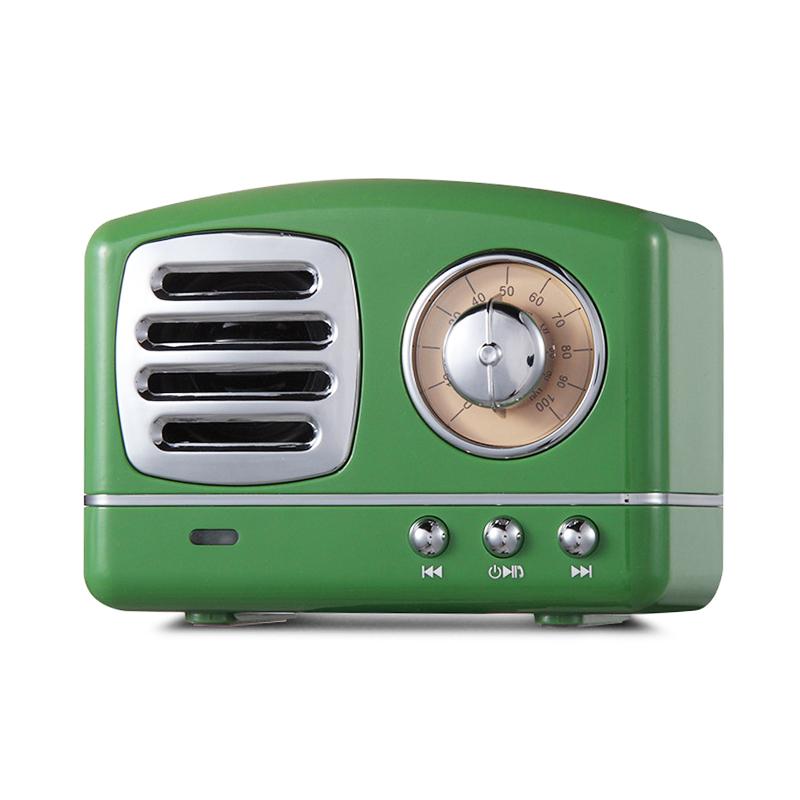 HM11 Retro Portable Nostalgic Radio Mini Bluetooth Speaker Creative Gift - Green