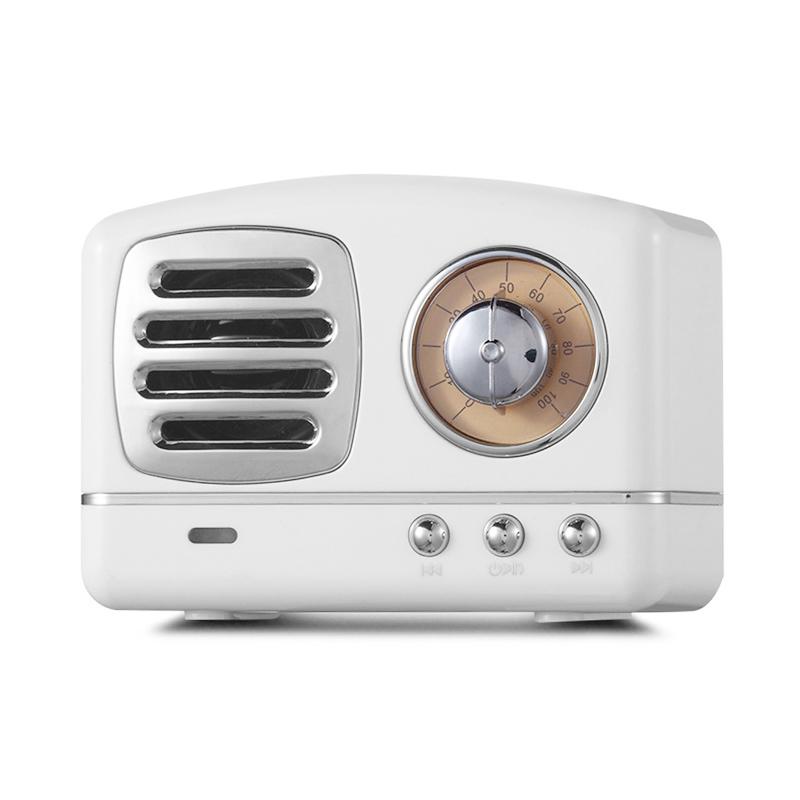 HM11 Retro Portable Nostalgic Radio Mini Bluetooth Speaker Creative Gift - White