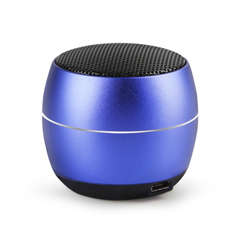 400 mAh Portable Metal Mini Wireless Bluetooth Speaker Hifi Sound Bluetooth 4.2 - Blue