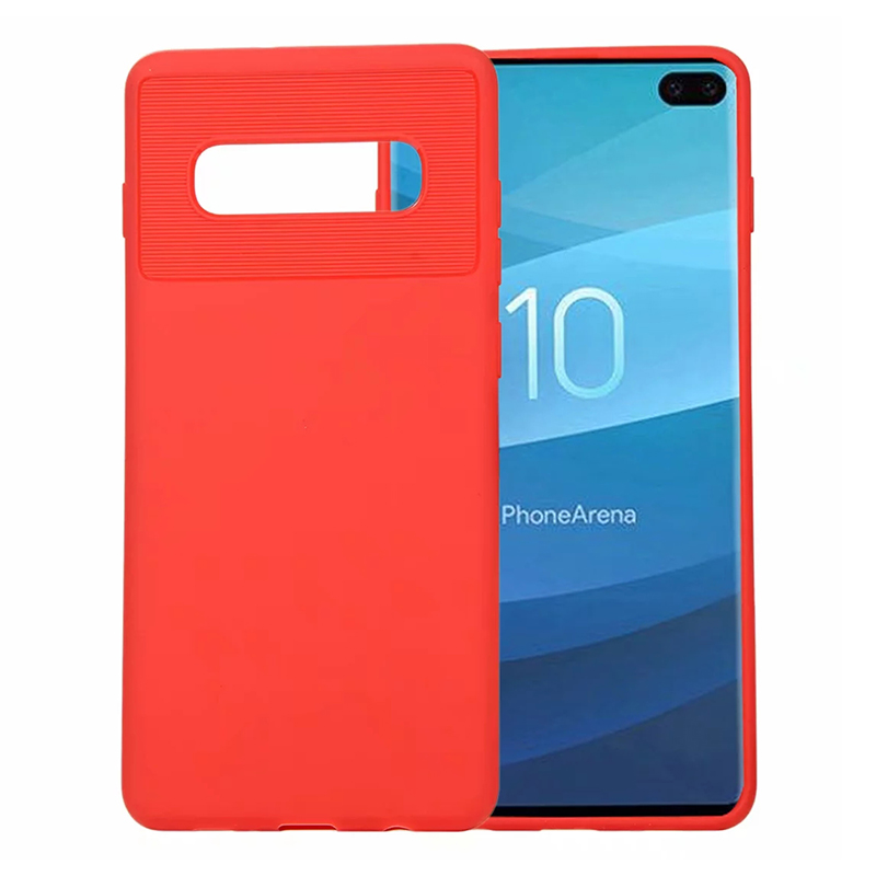 Slim Phone Case Lightweight Phone Cover Silicone Protective Case for Samsung Galaxy S10 Plus - Red