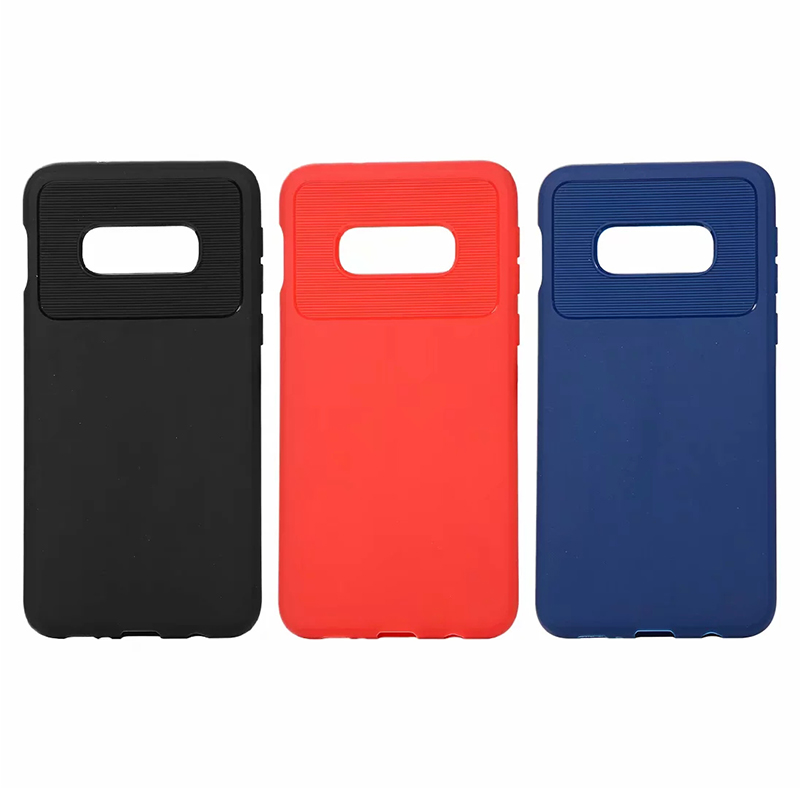 Anti - Scratch Striped Soft TPU Back Cover Phone Case for Samsung Galaxy S10e - Blue