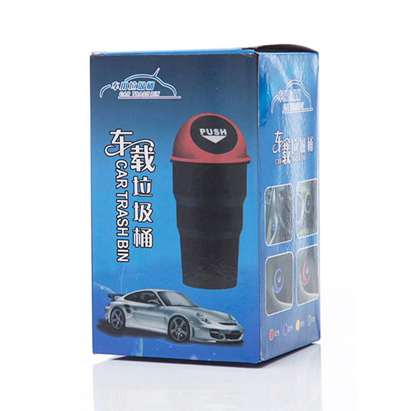 Durable Auto Mini Car Trash Garbage Auto Rubbish Bin Vehicle Waste Storage Can - Black