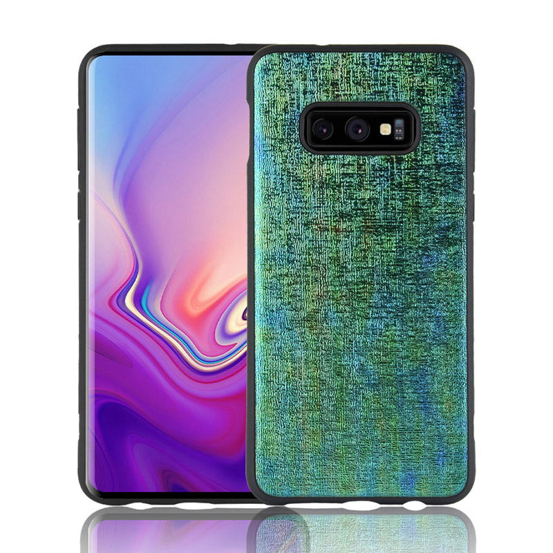 Luxury Ambilight Colorful Leather TPU Case Protective Phone Case Back Cover for Samsung Galaxy S10e - Green