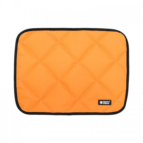 Safe Summer Cooler Dog Beds Mats Pet Ice Pad Waterproof Keep Cool Cold Silk Bite-Resistant Cushion Orange - XL