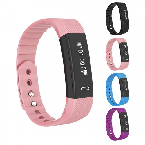 Bluetooth Smart Sport Bracelet Wrist Watch Touch Screen for iOS Android - Pink