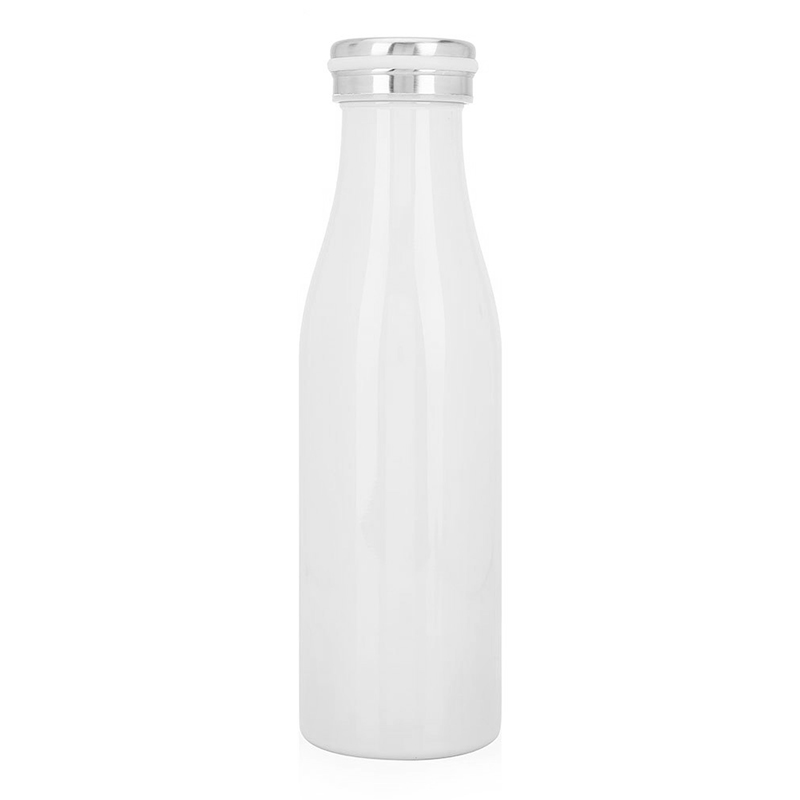 500ML Kids Child Student Stainless Steel Double Wall Vacuum Insulated Water Bottle Keep Hot and Cold - White