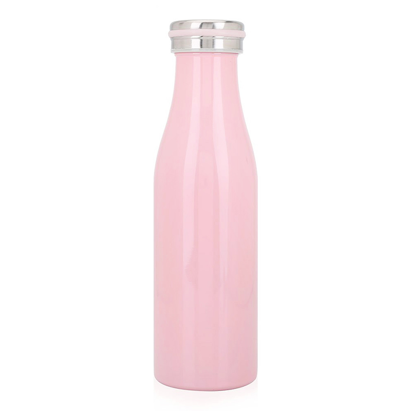 500ML Kids Child Student Stainless Steel Double Wall Vacuum Insulated Water Bottle Keep Hot and Cold - Pink