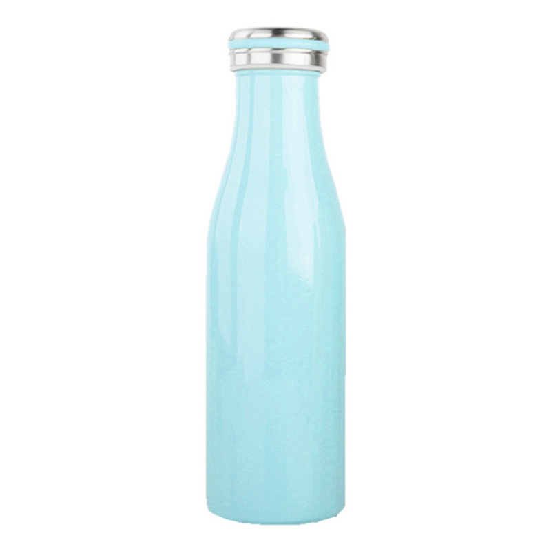 500ML Kids Child Student Stainless Steel Double Wall Vacuum Insulated Water Bottle Keep Hot and Cold - Blue