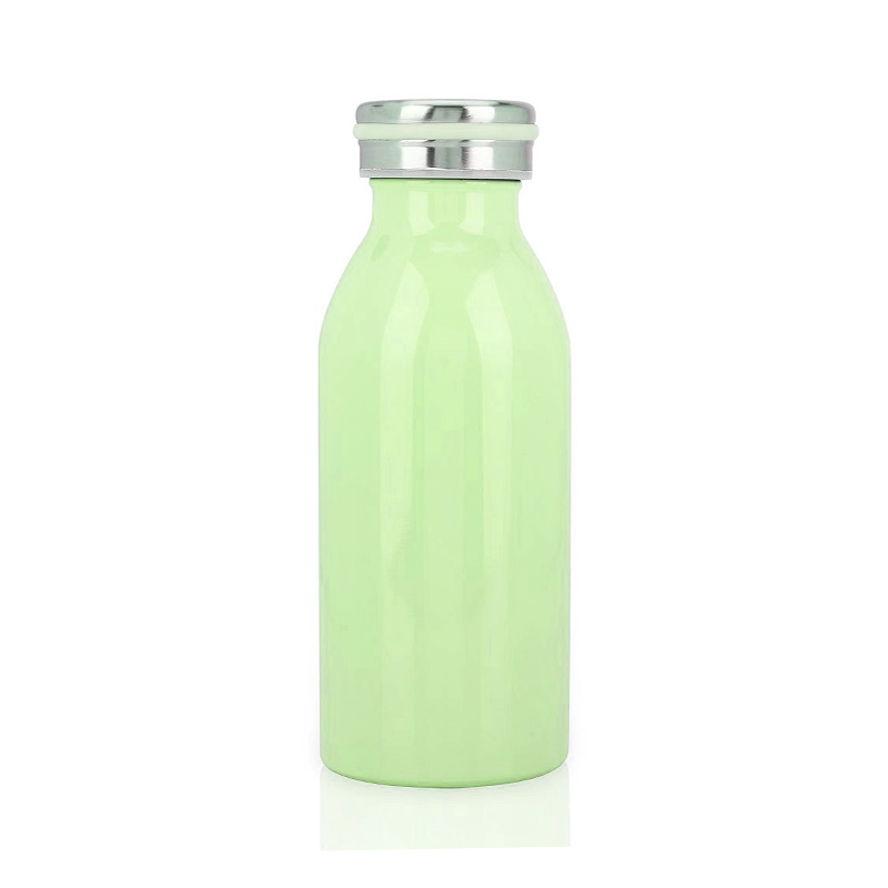 350ML Kids Child Student Stainless Steel Double Wall Vacuum Insulated Water Bottle Keep Hot and Cold - Green