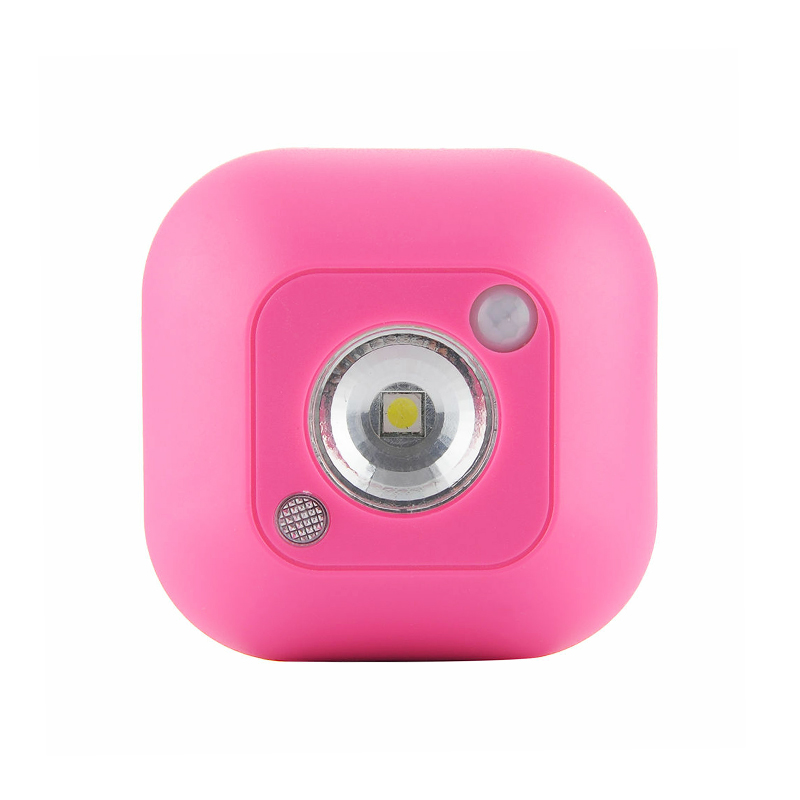 Mini Wireless LED Motion Sensor Night Light Lamp Indoor Cabinet Corridor Sensor Light - Pink