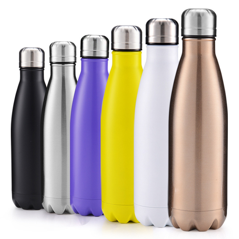 500ml Double Wall Stainless Steel Water Thermos Vacuum Insulated Water Bottle - Matte Yellow