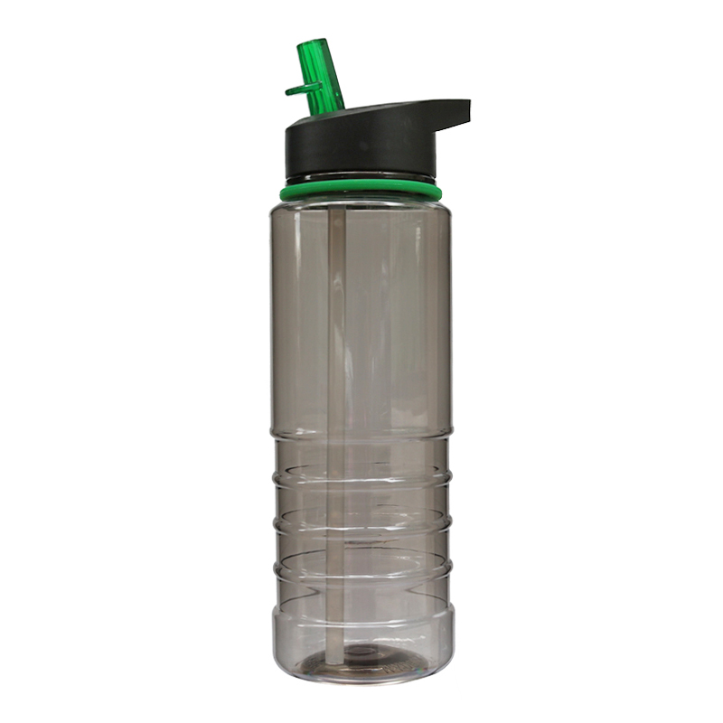 800ML Outdoor Sports Portable Drinking Water Bottle with Flip Straw - Green