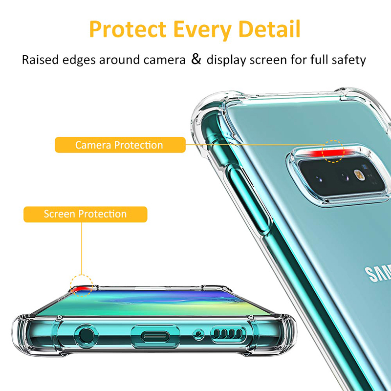 Clear TPU Back Case Soft Skin Silicone Protective Phone Case Transparent Cover for Samsung Galaxy S10e