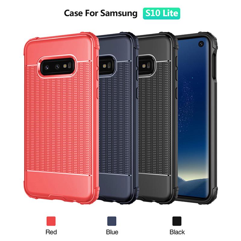 Slim TPU Back Case Soft Grainy Phone Case Lightweight Anti-fingerprint Cover for Samsung Galaxy S10e - Red