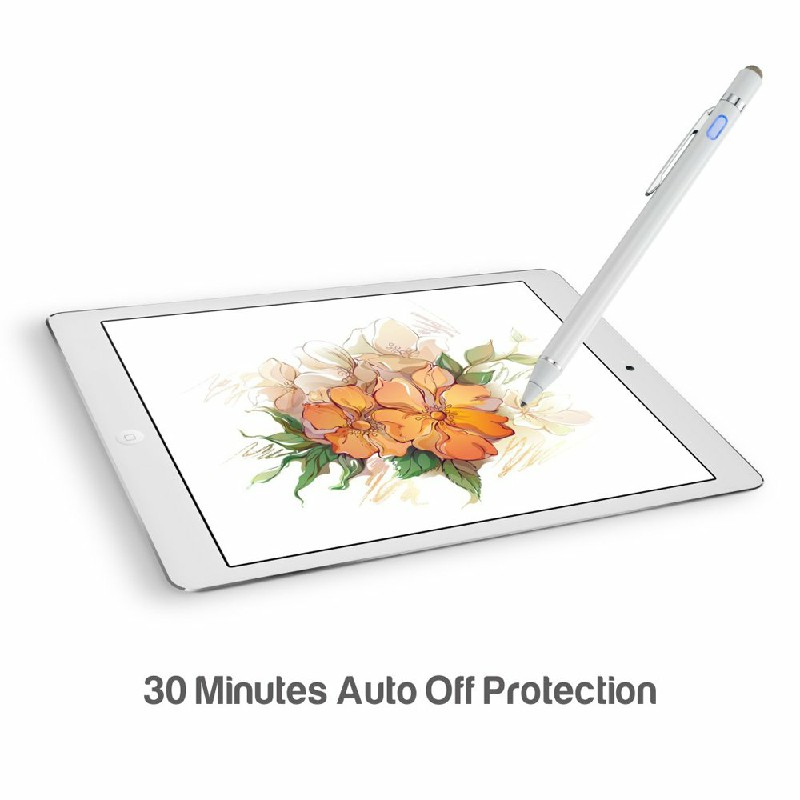 iPad Mobile Phone Stylus Pen High Precision and Sensitivity Point Capacitive Stylus with CE Certification - White