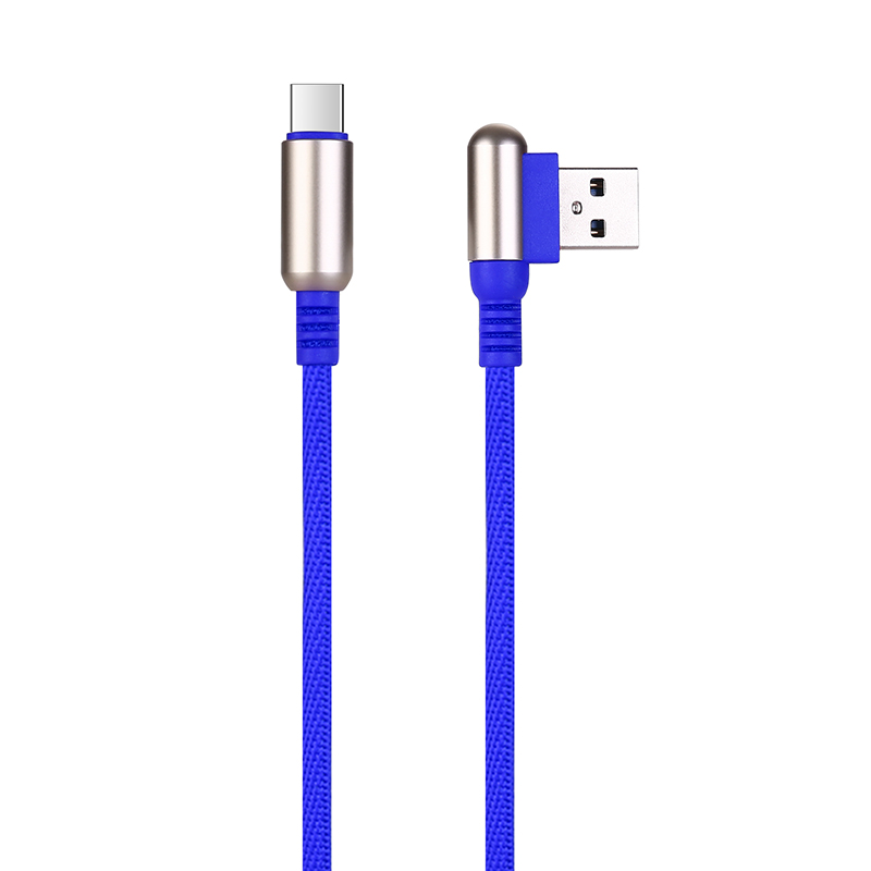 1 M Type C USB 3.1 Charging Cable Durable Soft Braided Charger Cable - Blue