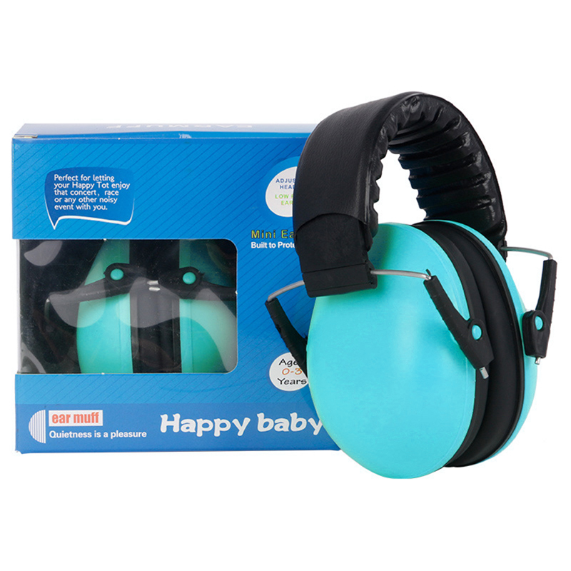 Baby Child Adjustable Foldable Earmuff Noise Reduction Sleep Hearing Protection Earmuff - Blue