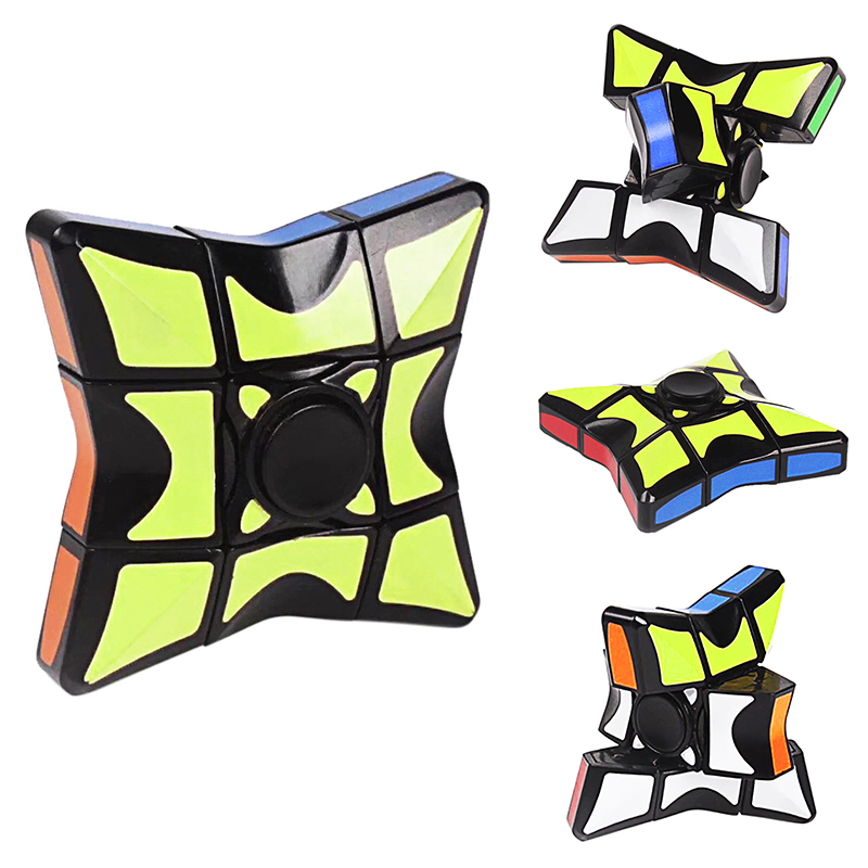 Children Fingertip Gyro Cube Rotating Smooth Puzzle Decompression Magic Toy Handheld Game