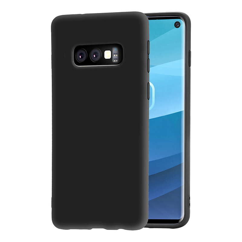 TPU Matte Soft Shell Back Case Phone Cover Anti-slip for Samsung Galaxy S10e - Black