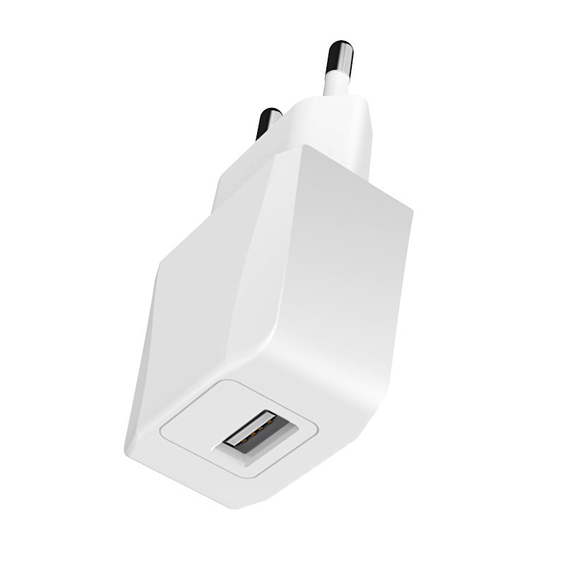 5V 1A EU Plug USB Wall Charger Adapter Charging Head USB Power Adapter 5W CE Certification - White