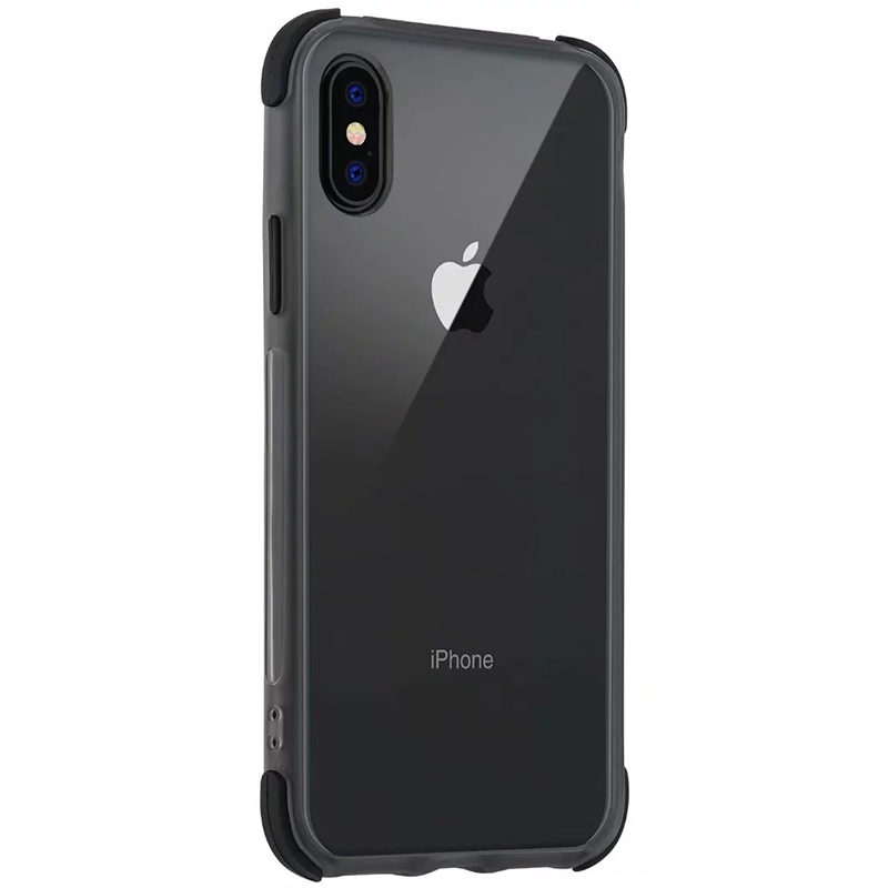 Slim Soft Silicone TPU Phone Case Mobile Phone Back Cover for iPhone X/XS - Black