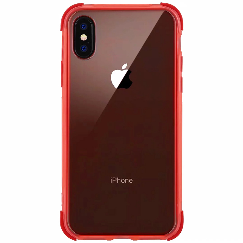 Slim Soft Silicone TPU Phone Case Mobile Phone Back Cover for iPhone X/XS - Red