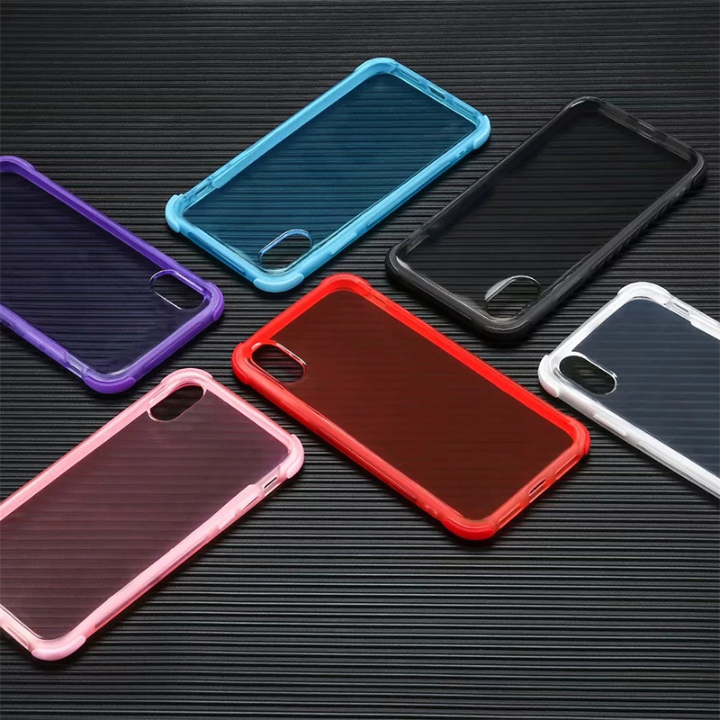 Slim Soft Silicone TPU Phone Case Mobile Phone Back Cover for iPhone X/XS - Blue