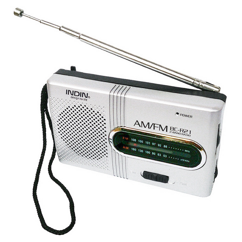 BC-R21 Mini Retro Radio Portable AM FM Telescopic Antenna Pocket Radio
