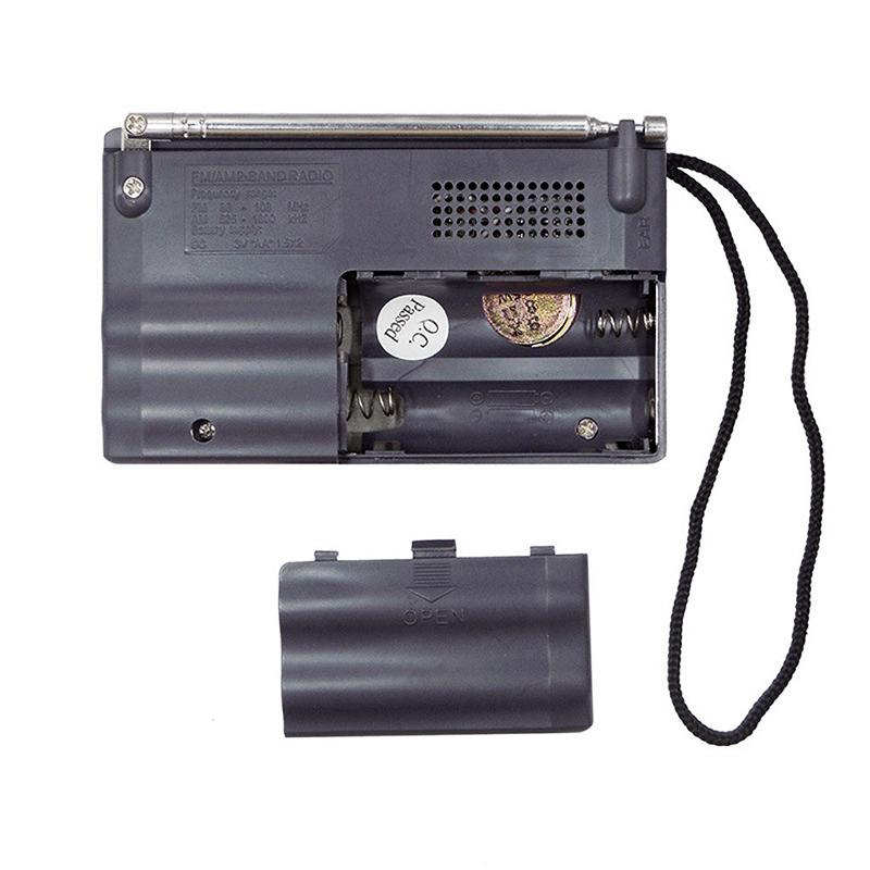 BC-R21 Mini Retro Radio Portable AM FM Telescopic Antenna Pocket Radio