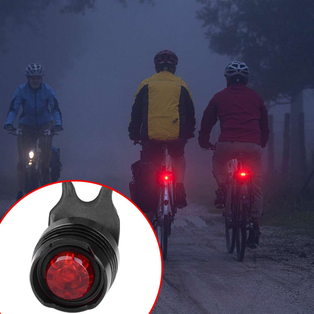 USB Rechargeable Waterproof Bike Cycling Light Headlights + Taillights Tail Lamp Set