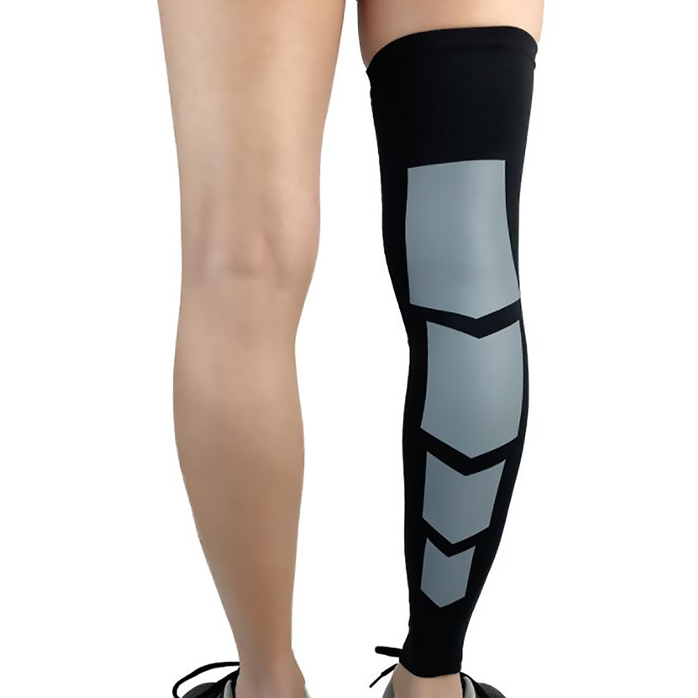Professional Sport Leg Support Socks Pads Varicose Veins Calf Sleeve Compression Protective Brace - L