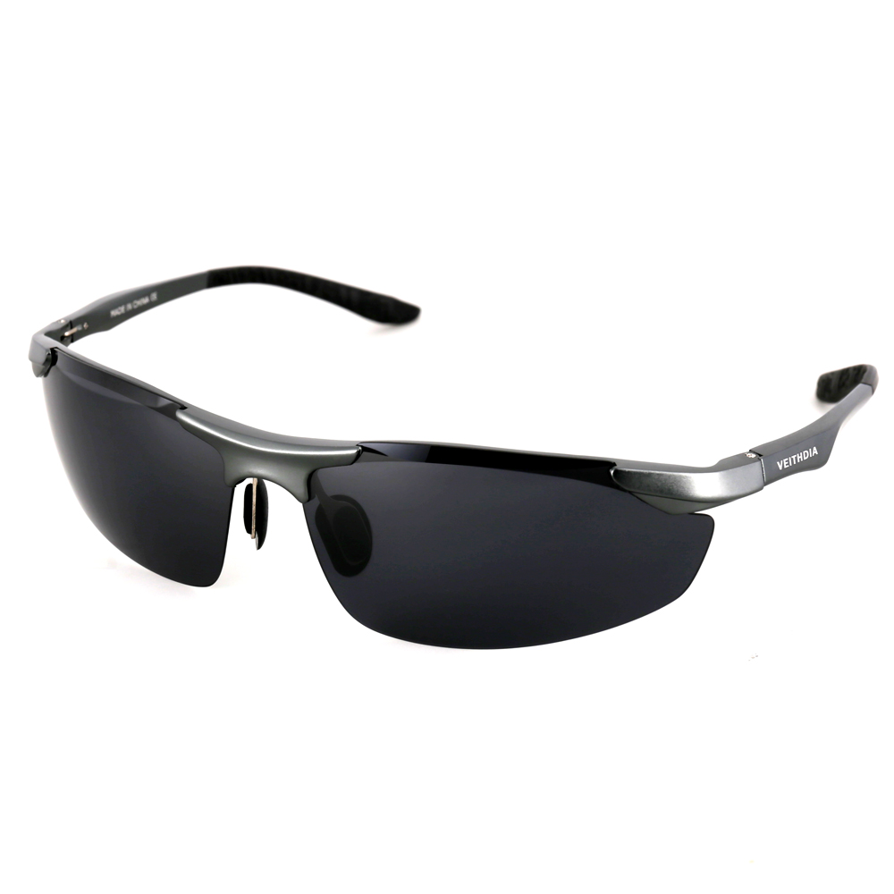 Aluminum Polarized Sunglasses Men's Sports Sun Glasses Driving Mirror Goggle - Black