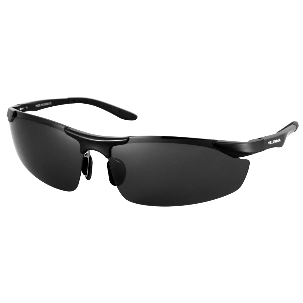 Aluminum Polarized Sunglasses Men's Sports Sun Glasses Driving Mirror Goggle - Grey