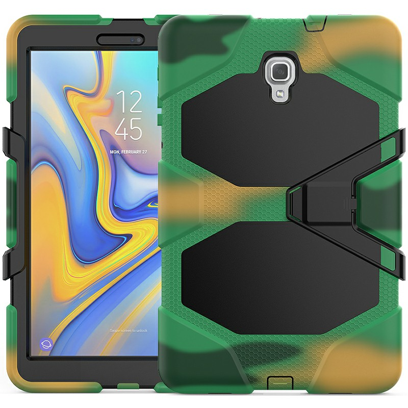 Heavy Duty Hybrid Silicone Bumper PC Full Cover Protective Case for Samsung Galaxy Tab A 10.5 Inch - Camouflage