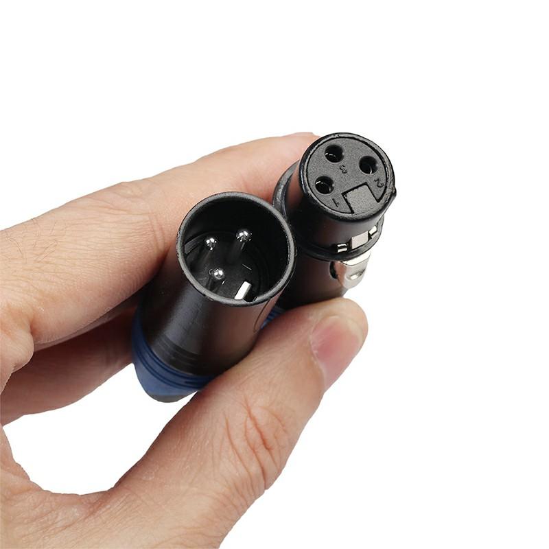 1 Pair XLR Adapter 3 Pin Male Plug Female Jack Microphone MIC Audio Connector Adaptor - Green