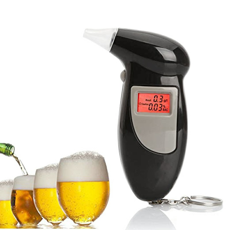 PFT-68S Backlight Digital LCD Breath Alcohol Tester Breathalyzer Analyzer Detector with Keychain