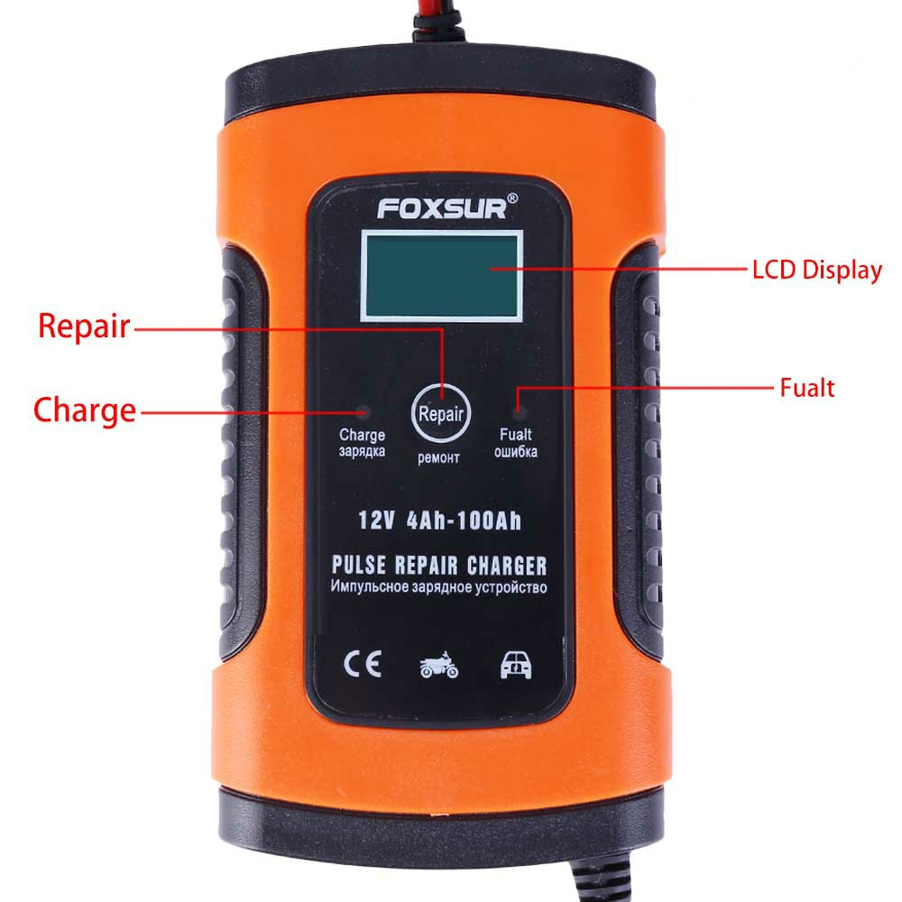 12V Automatic Electronic Intelligent Fast Universal Pulse Repair UPS Battery Charger for Car and Motorbike UK