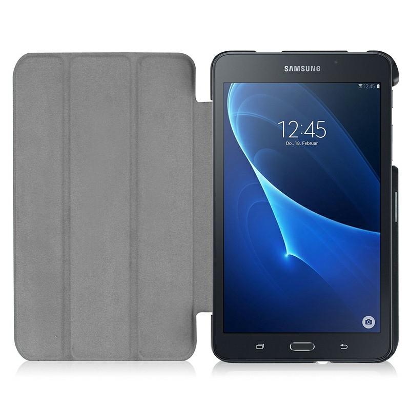 PU Leather Tri-Fold Flip Stand Cover Case for Samsung Galaxy Tab A 7.0  Inch - Black