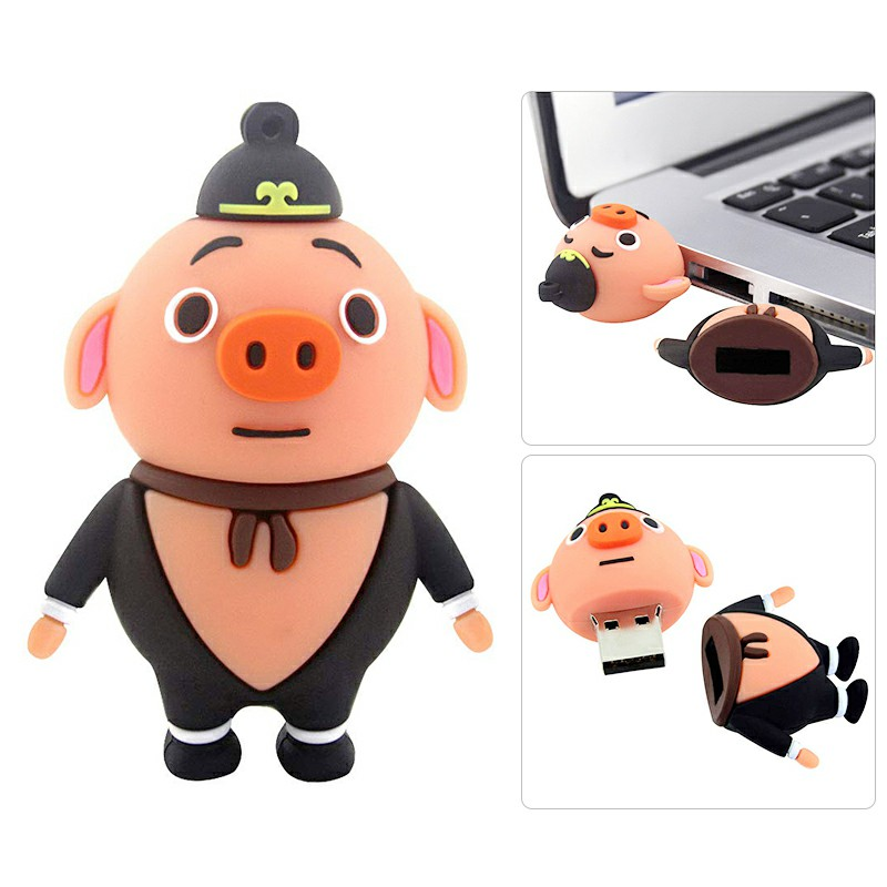 Pig Image of Drama Series Pilgrimage to the West USB 2.0 Flash Drive U Disk - 16GB