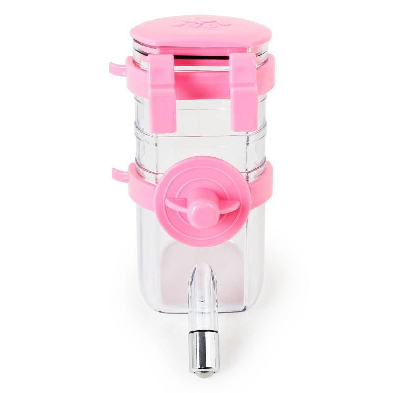 Dog Sucking Water Drinking Bottles Environmentally Friendly Material Hangable Portable Water Drinker - Pink