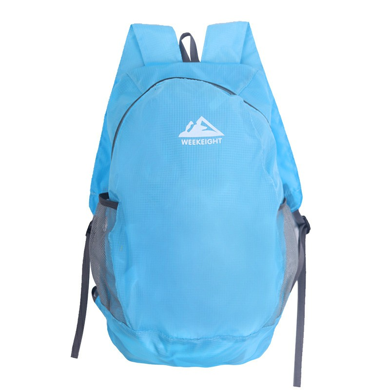 Lightweight Packable Backpack Waterproof Travel Hiking Foldable Camping Outdoor Shoulder Bag - Blue