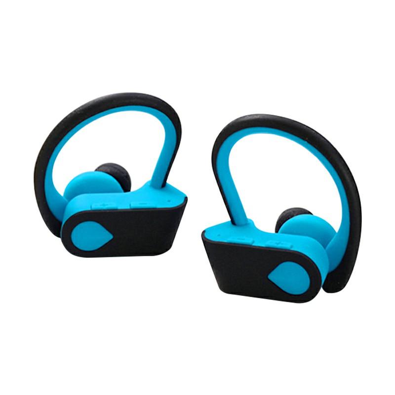 TWS-3 Bluetooth 5.0 Wireless Earphone Ear-hook Stereo Headset Hifi Sports Headphones for iPhone Android Phones - Blue