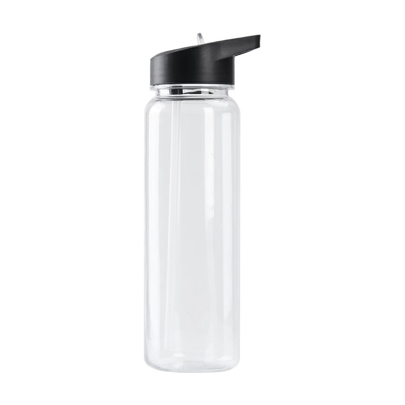 700ML Plastic Sports Drinking Bottle Outdoor Water Bottle with Nozzle Flip Straw