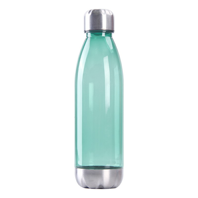 750ml Outdoor Sports Drinking Bottle Plastic Stainess Steel Water Bottle and Cover Bottle - Green