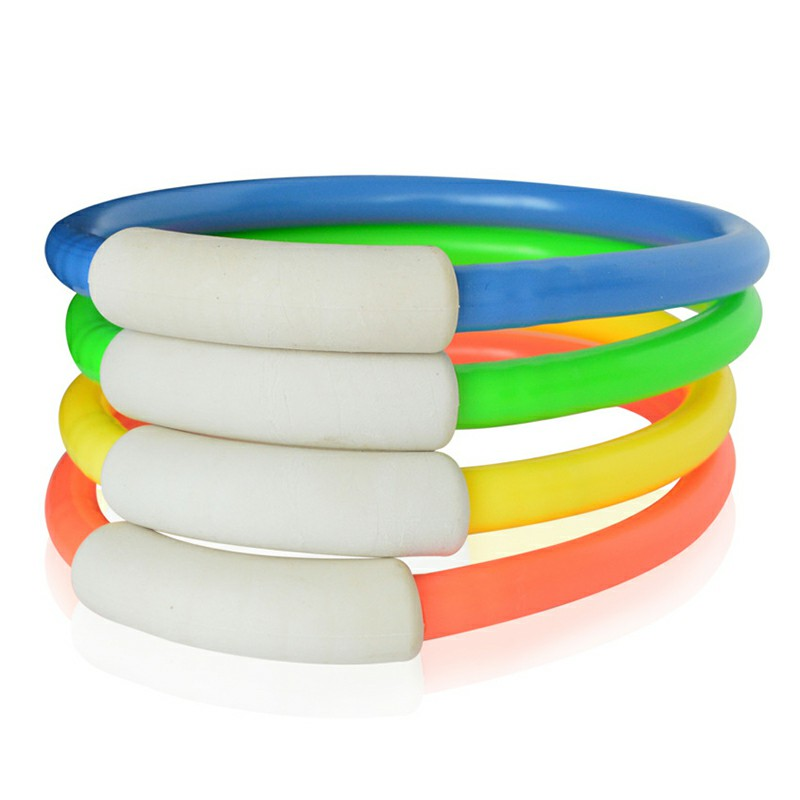 4 pcs Underwater Dive Rings Swimming Diving Circle Sinking Pool Water Playing Toy Fun Games for Childrens