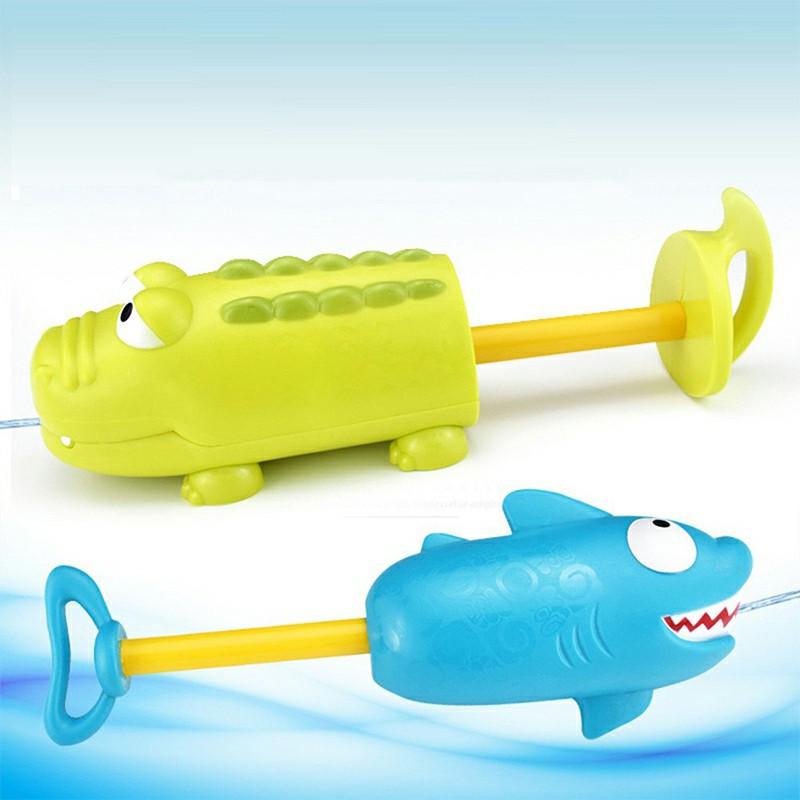 Shark Crocodile Pump Water Gun Children Summer Playing Water Toy Can Shake Head Control Direction - Shark