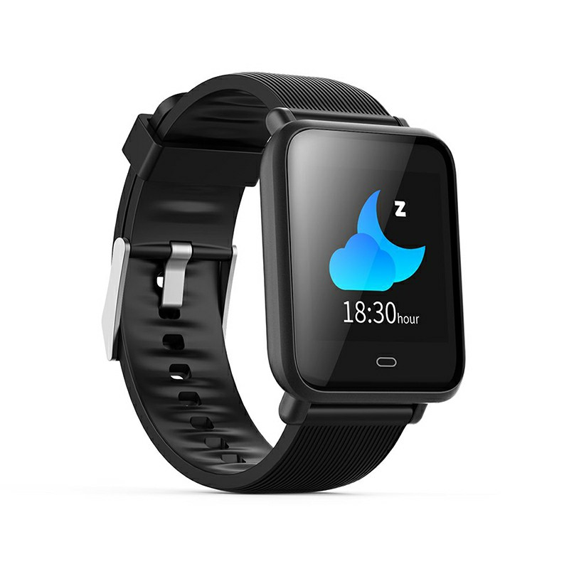 Q9 Smart Watch Sport Bracelet IPS Calories Heart Rate Sleep Monitor Blood Pressure Fitness Tracker - Black